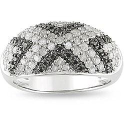 M by Miadora Sterling Silver 1ct TDW Diamond 'X' Ring (I-J, I3)