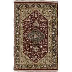 Hand-knotted Traditional Oriental Sangli Wool Rug (2' x 3')