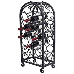 20-bottle Swirl Wine Rack