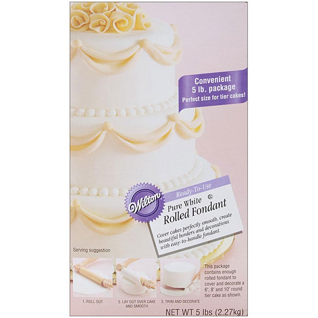 Ready To Use Rolled White Fondant