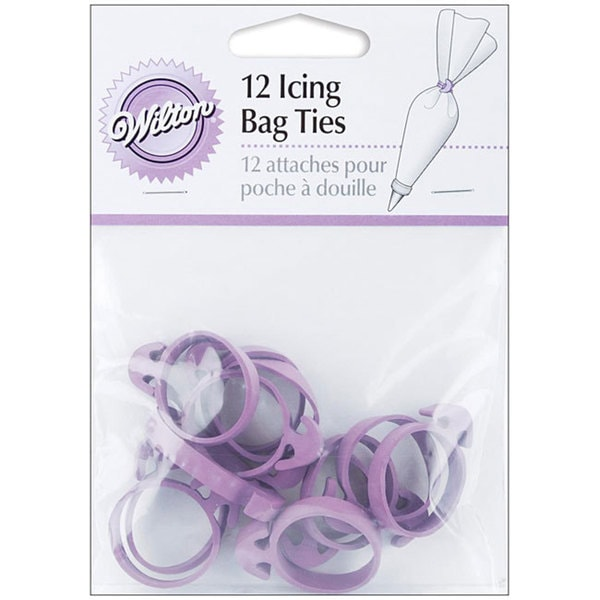 Purple Icing Bag Ties (Pack of 12)