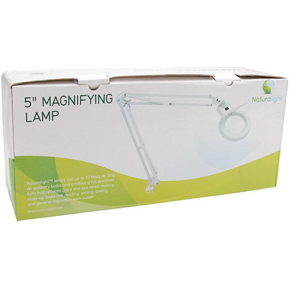 Naturalight 5-inch White Magnifying Lamp