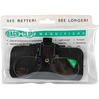 Magni-clips Lightweight Clip-on +2.50 Magnification Magnifiers