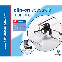 Clip-On Black Spectacle Magnifier