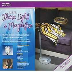 Mighty Bright 12 Super LED Floor Light and Magnifier Casual Craft Lamp