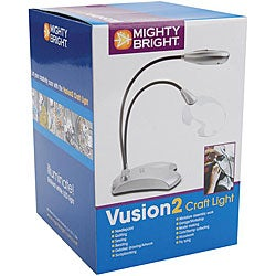 Mighty Bright Vusion2 Silver Dual-purpose Craft Light with Magnifier