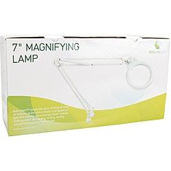 Naturalight 7-inch White Magnifying Lamp