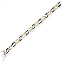 Collette Z Sterling Silver Multi-colored Cubic Zirconia Geometric Bracelet