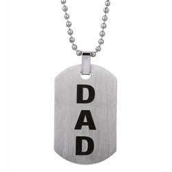 Stainless Steel 'DAD' Dog Tag Necklace