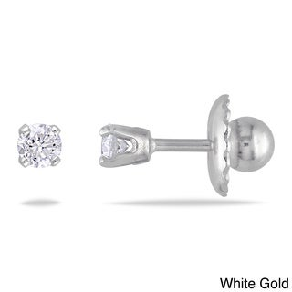 Miadora 14k Gold 1/10ct TDW Diamond Stud Earrings (I-J, I2-I3)