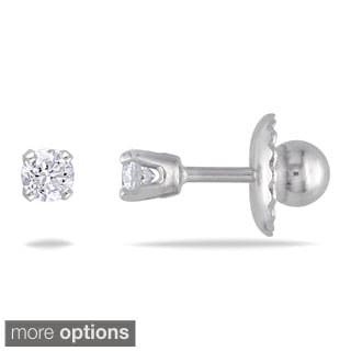 Haylee Jewels 14k Gold 1/10ct TDW Diamond Stud Earrings (I-J, I2-I3)