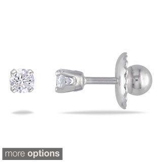 14k Gold 1/10ct TDW Diamond Stud Earrings (I-J, I2-I3)