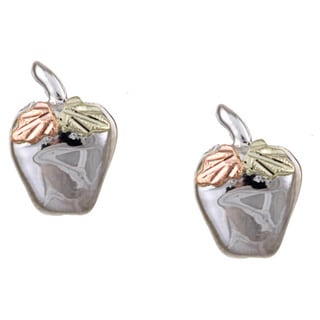 Black Hills Gold and Silver Apple Earrings