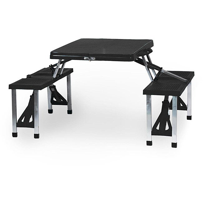 Picnic Time Black Folding Table with Seats at Sears.com