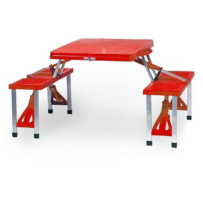 Picnic Time Red Folding Table with Seats at Sears.com