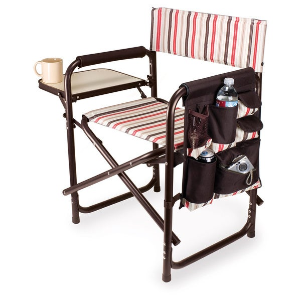 Picnic Time Folding Sports Chair with Side Table Overstock Shopping Big D