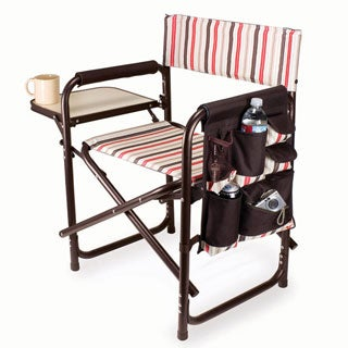 Picnic Time Folding Sports Chair with Side Table