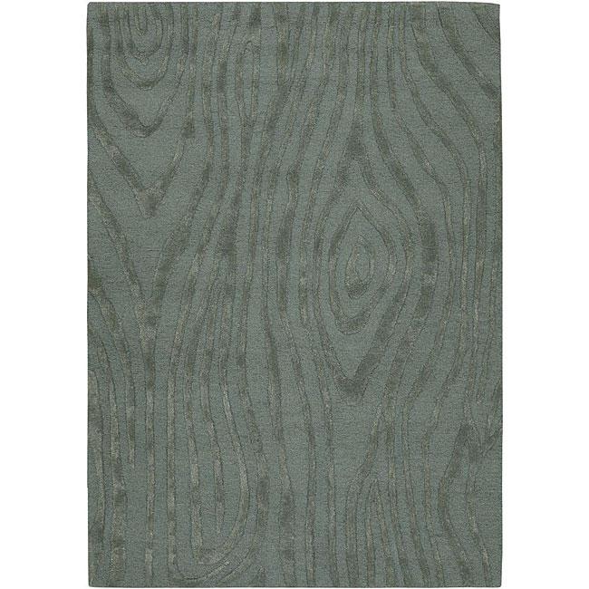Hand-tufted Mandarae Blue Wool Rug (5' x 7'6)