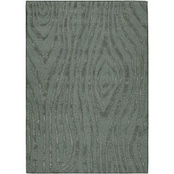 Hand-tufted Mandarae Blue Wool Rug (5' x 7'6)
