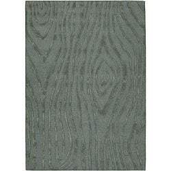 Hand-tufted Mandarae Blue Wool Rug (7'9 x 10'6)