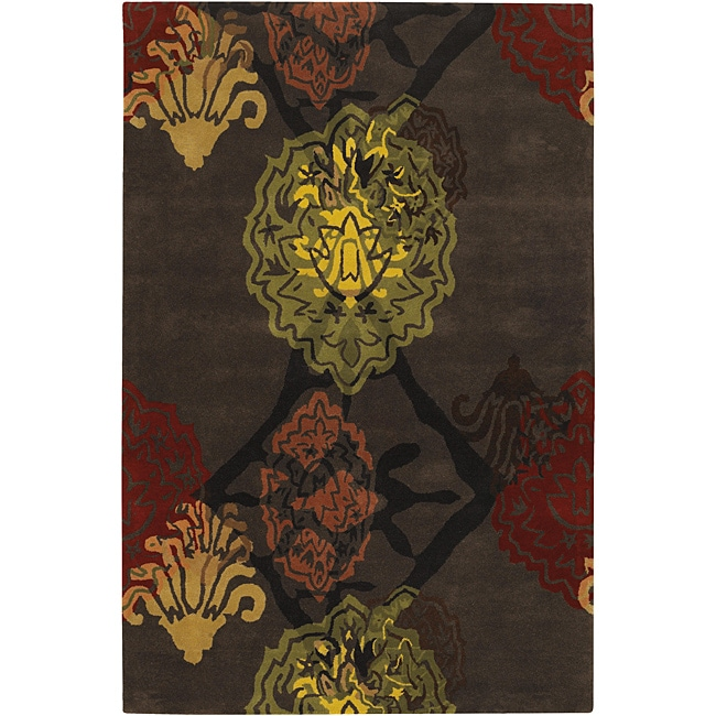 Hand-Tufted Abstract Mandara Wool Rug (5' x 7'6)