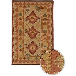 Hand-woven Flat-weave Kaalein Wool Rug (5' x 7'6)