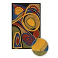 Bright Spirals Hand-tufted Mandara Contemporary Wool Rug (5' x 7'6)