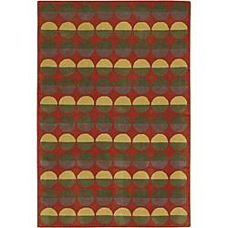 Hand-Tufted Modern Mandara Wool Rug (7'9 x 10'6)