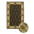 Hand-Tufted Ivory Patterned Mandara New Zealand Wool Rug (5' x 7'6)