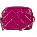 Made in Italy Patent Leather Fuchsia Quilted Shoulder Bag