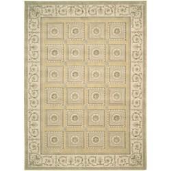 Nourison Newport Garden Gold Wool-blend Rug (5'3 x 7'9)
