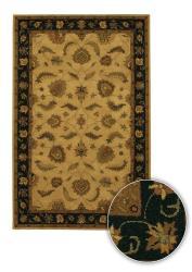 Hand-tufted Transitional Mandara Beige Wool Rug (5' x 7'6)