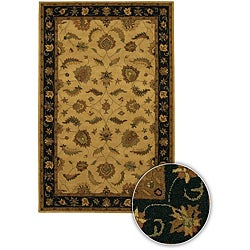 Hand-tufted Transitional Mandara Beige Wool Rug (5' x 7'6)