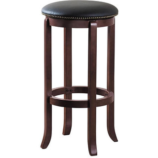 Lewisville 29-Inch Swivel Vinyl Bar Stool