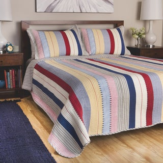 Greenland Home Fashions Prairie Stripes 3-piece Quilt Set