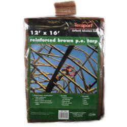 Texsport Brown Reinforced Rip-Stop Polyethylene Tarp
