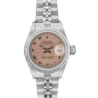 pre owned rolex 69174 s datejust white gold