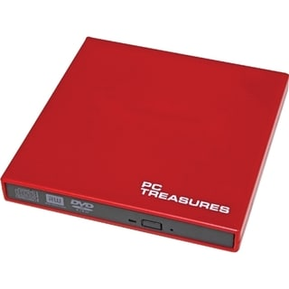 Digital Treasures 07184 External DVD-Writer - Retail Pack - Red