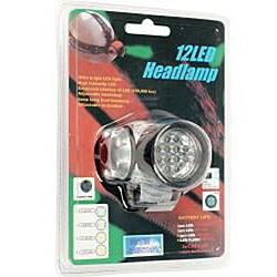 Bright 12 LED Headlamp with Strap Adjustable Flashlight