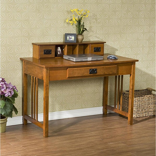 Harper Blvd Mission Oak Work Desk 12756531 Overstock