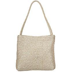Made in Italy Desmo Braided-Strap Pearl Leather 'Intrecciati' Tote