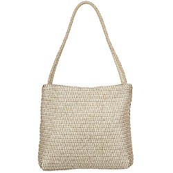 Made in Italy Desmo Braided-Strap Pearl Leather 'Intrecciati' Tote