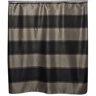 Diamonds are Forever Black Shower Curtain