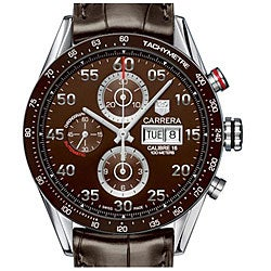 Tag Heuer Men's CV2A12.FC6236 Carrera Brown Chronograph Watch