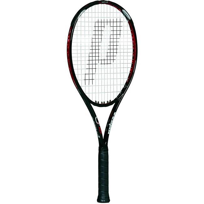 Prince 'O3 Red' Strung Tennis Racquet