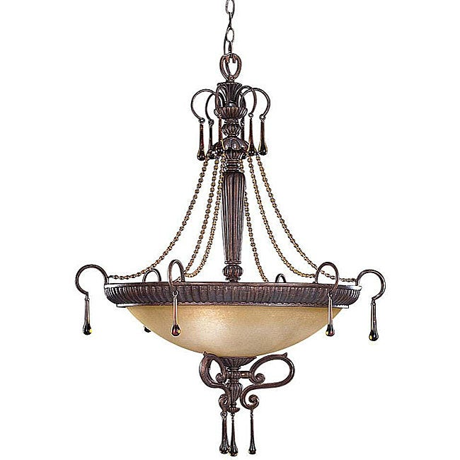 Island Gold 3-light Inverted Pendant Light Fixture