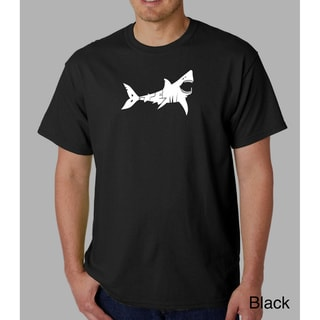 Los Angeles Pop Art Men's 'Bite Me' Shark T-shirt
