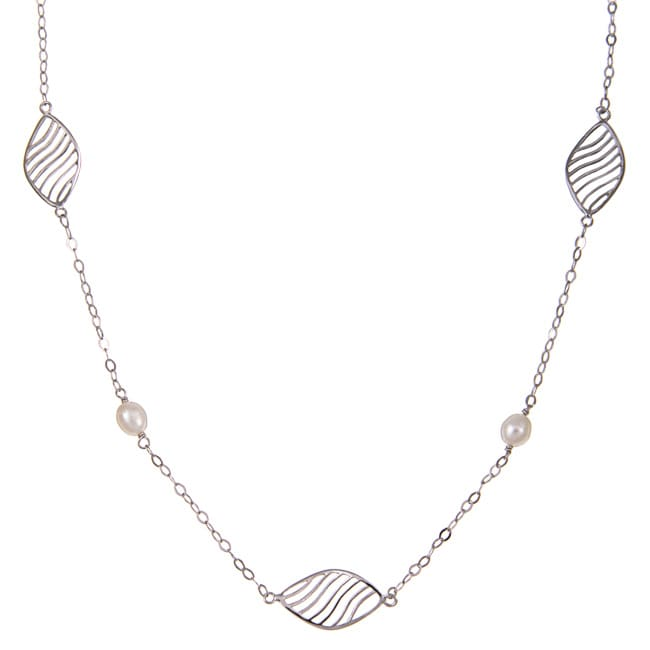 Kabella Sterling Silver and Freshwater Pearl Necklace (6-6.5)