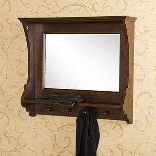 Upton Home Kelly Espresso Wall Mirror
