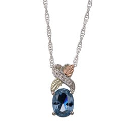 Black Hills Gold and Silver March Birthstone Necklace